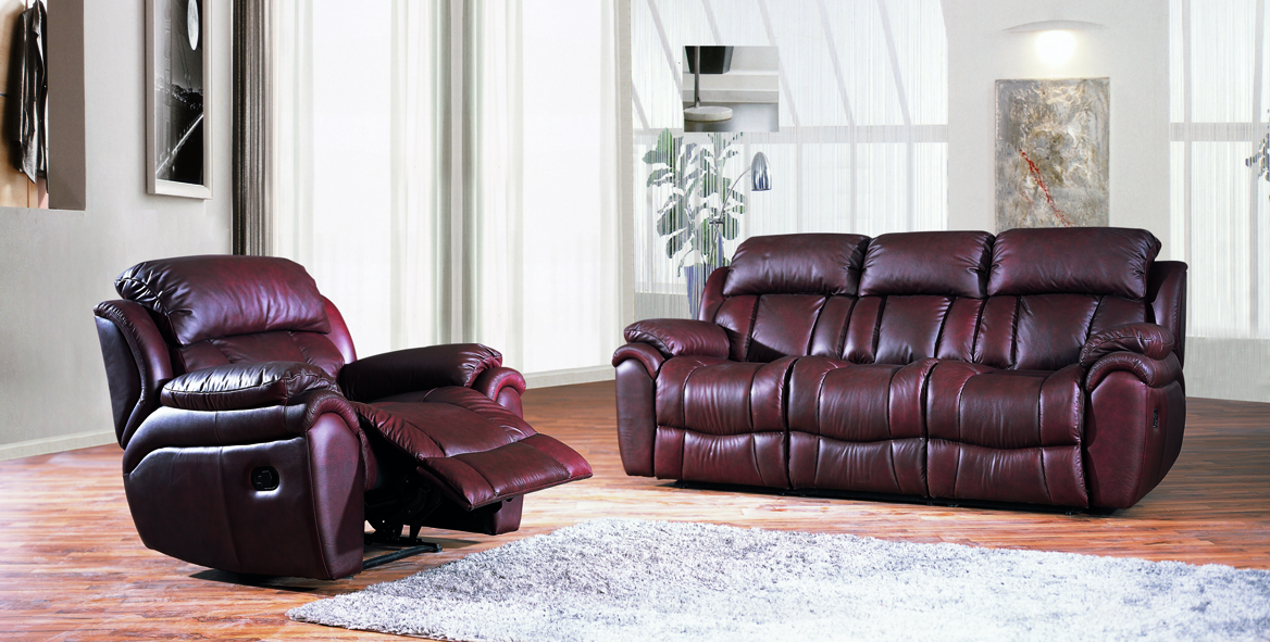 Penthouse 3 Piece Leather Recliner Lounge Suite